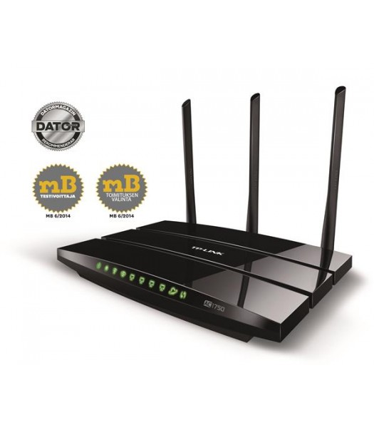 TP-Link Archer C7/AC1750 Wireless DB Gigabit Router, 802.11 a/b/g/n/ac, Gigabit LAN/WAN/2x USB 2.0